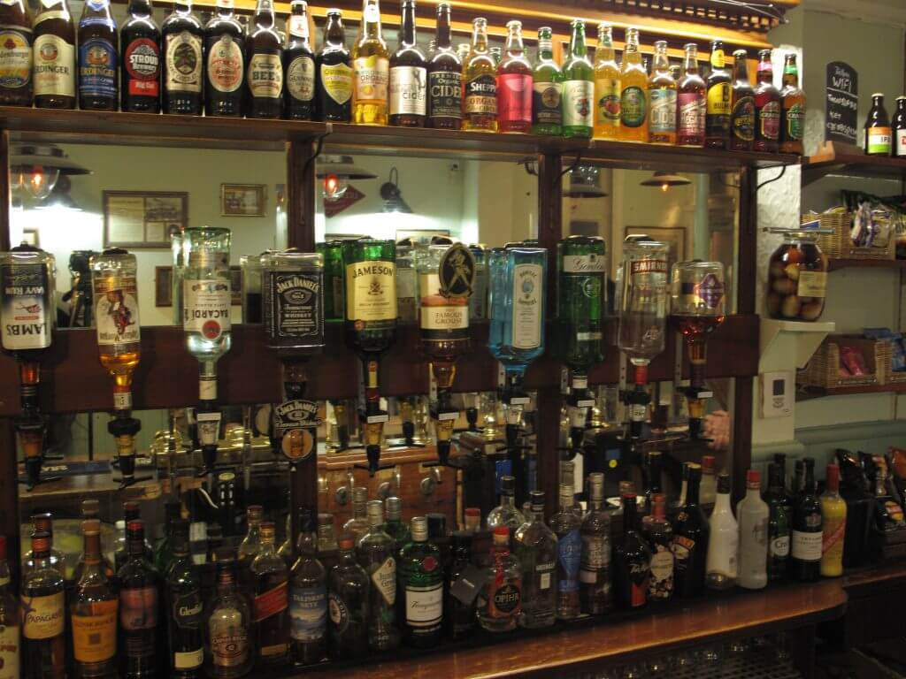 The front bar at The Retreat in Reading