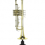 Trumpet on stand