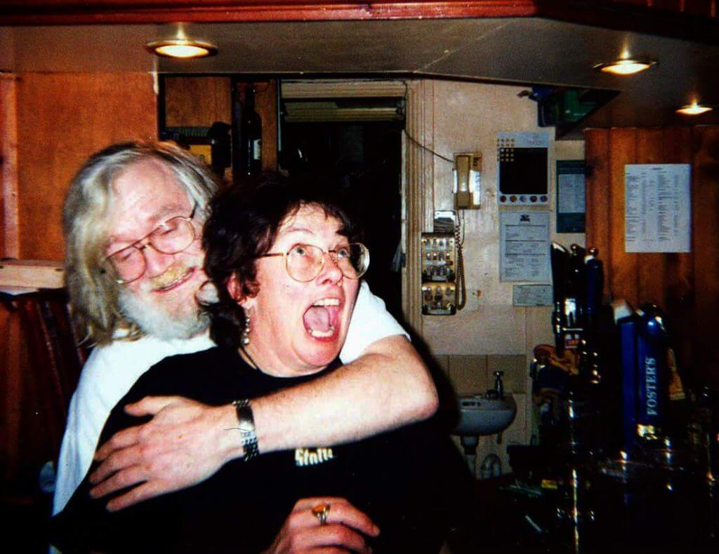 Bernie and Jane at The Retreat pub in Reading, 2003