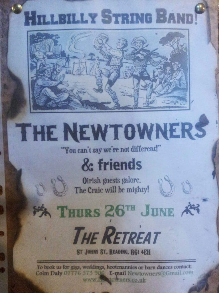 The Retreat pub in Reading - The Newtowners poster