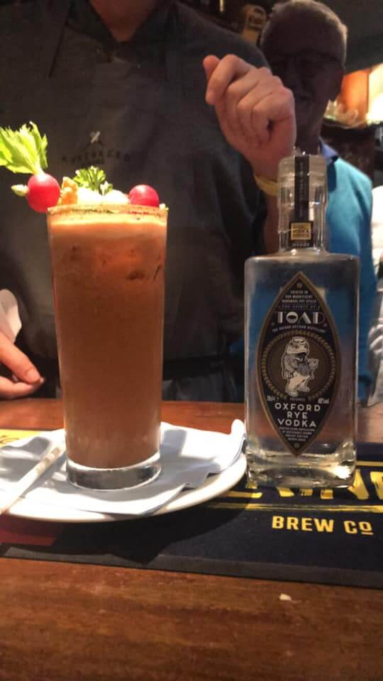 Clair Price and KevinHarrington's second place Bloody Mary