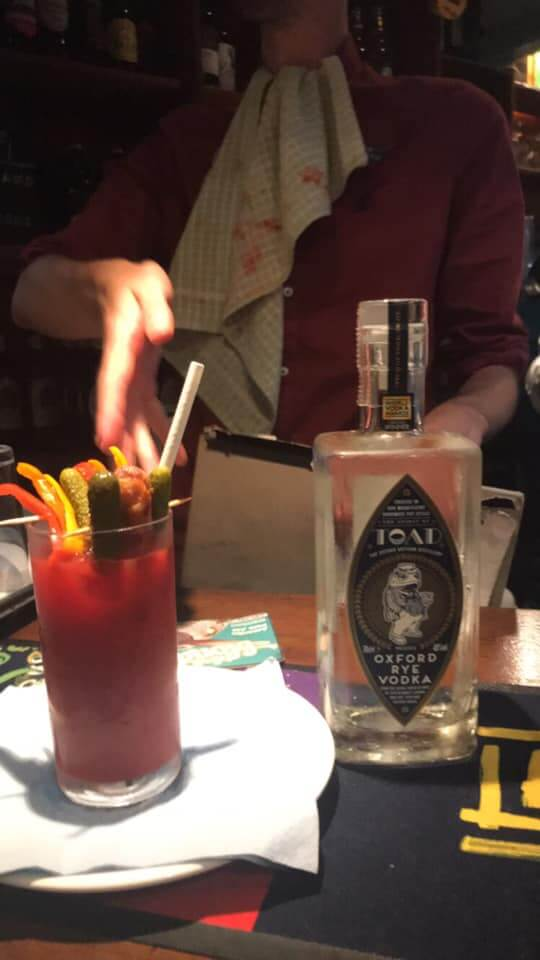 Luke Kendrick first place Bloody Mary, The Retreat Bloody Mary Contest 2019