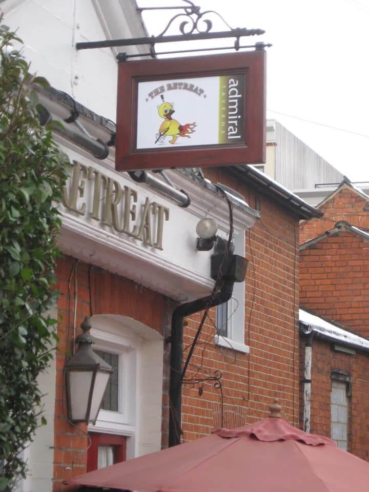 The Retreat duck pub sign