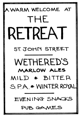 The Retreat advert from the 1983 CAMRA National AGM newsletter