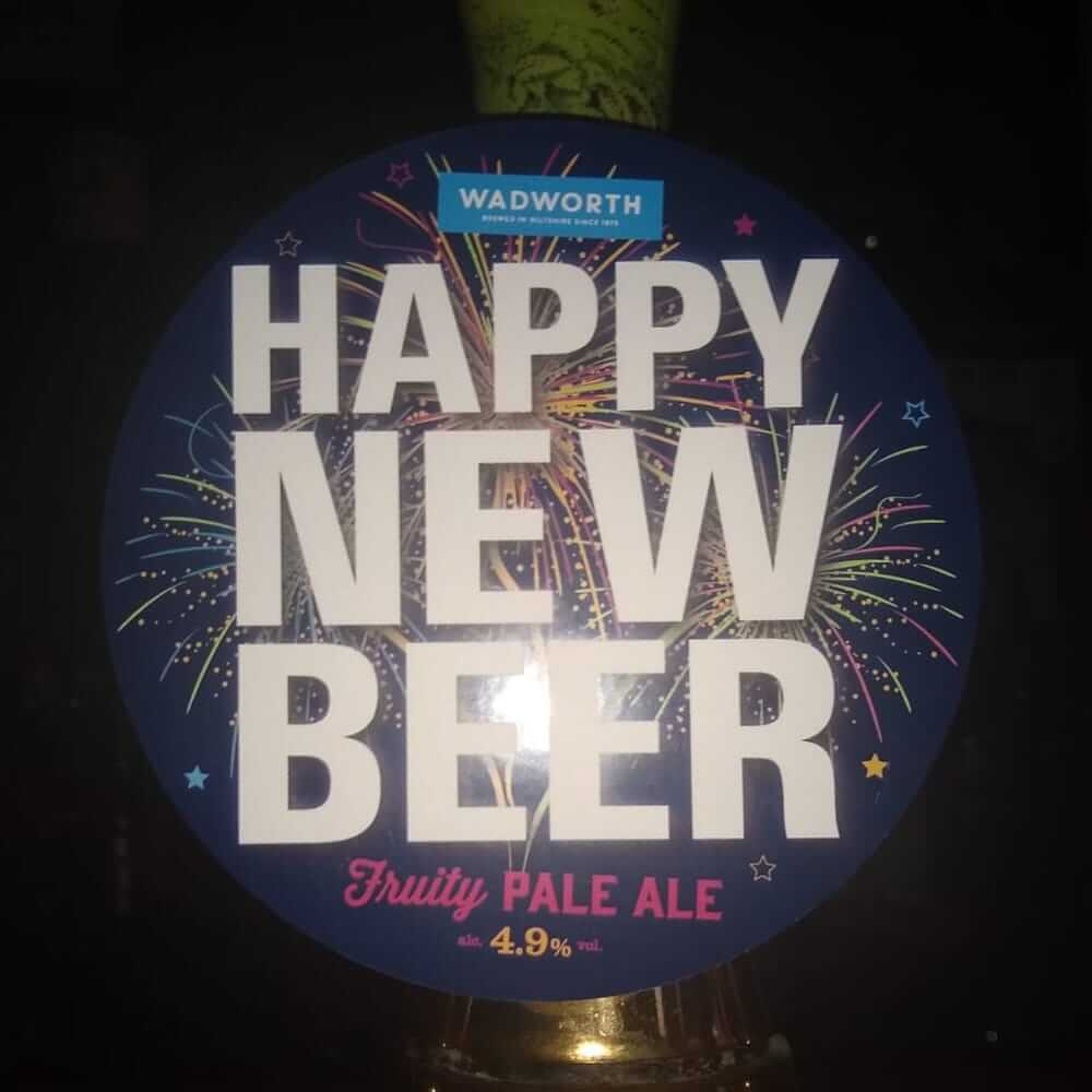 Wadworth Happy New Beer, Fruity Pale Ale, ABV 4.9