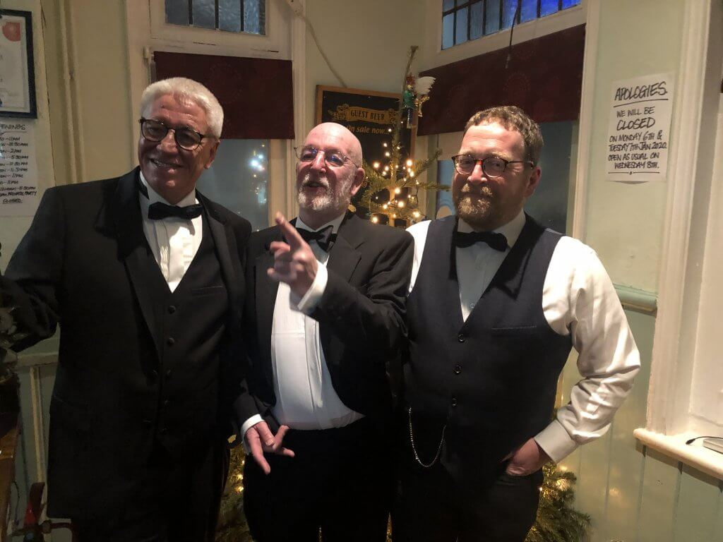 Black tie trio: Brian Moignard, Bill Hughes and Wyn Moseley