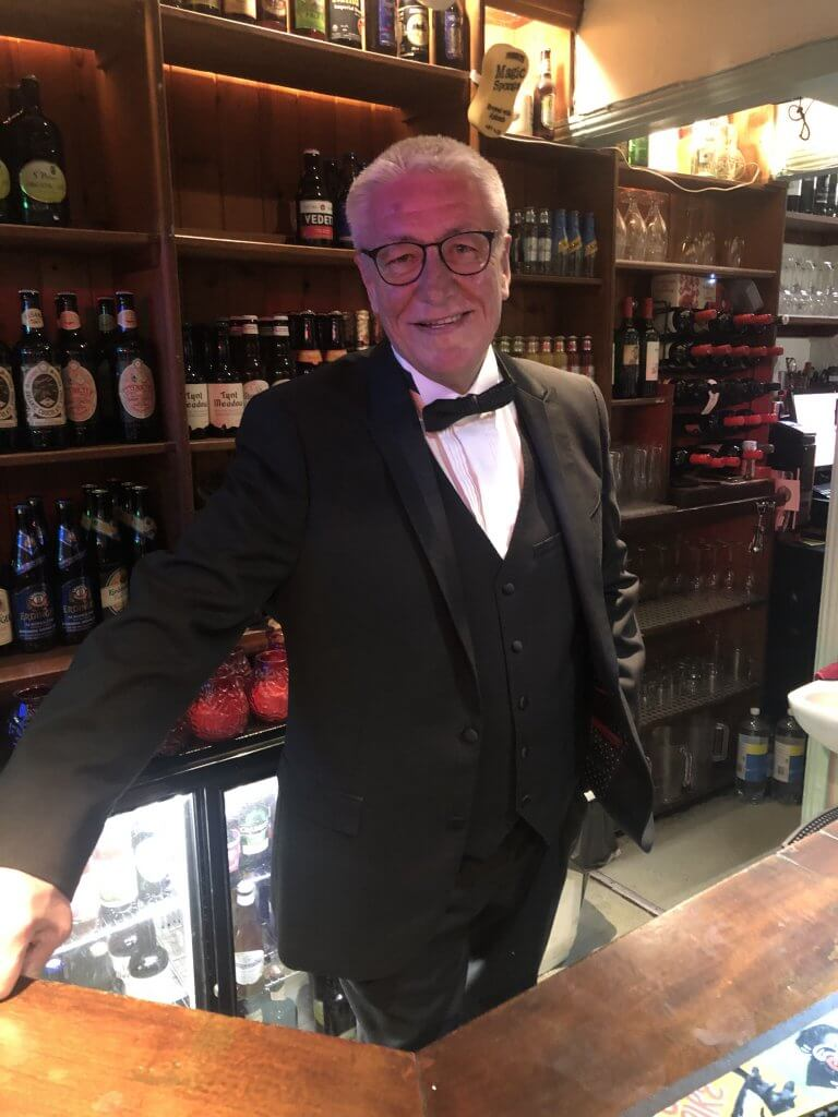Brian Moignard ready for the New Year's Eve rush at The Retreat pub in Reading