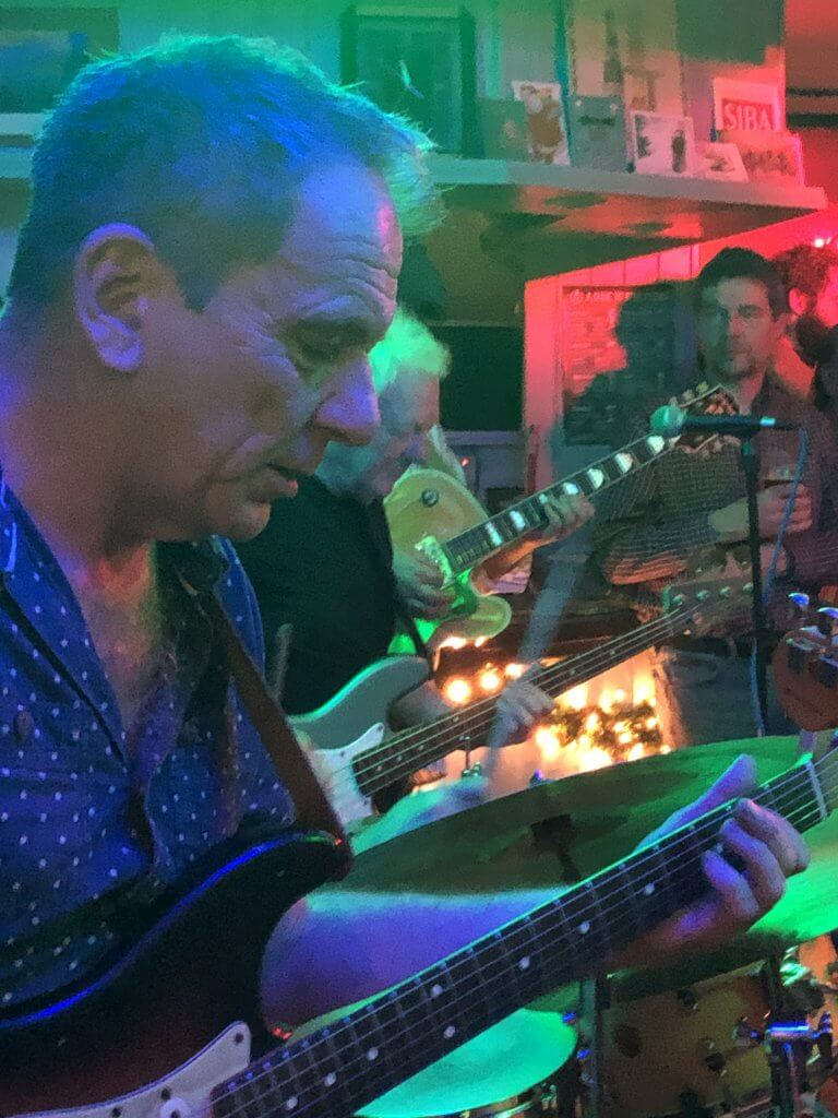 Dave Gray on New Year's Eve at The Retreat pub in Reading