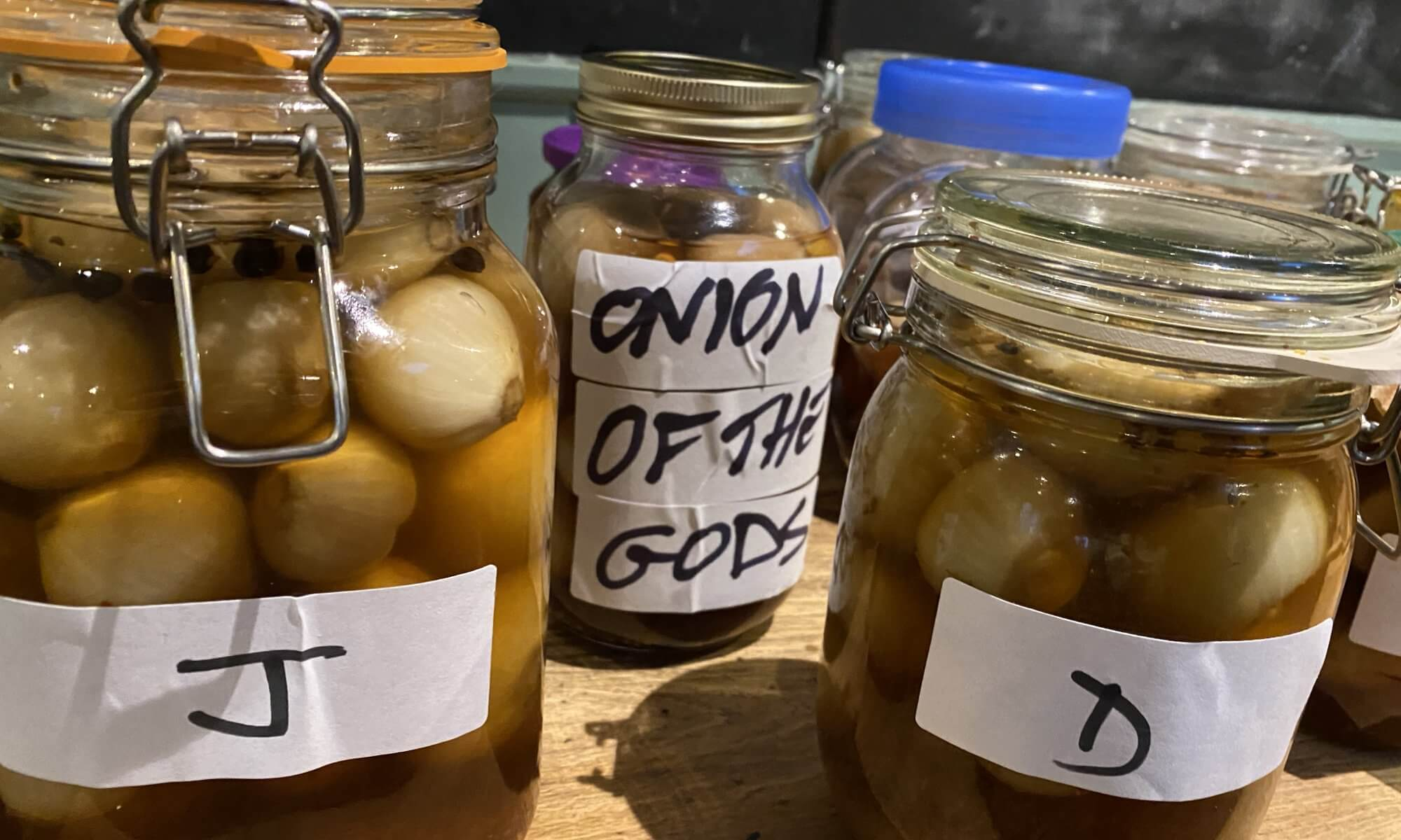 Pickled onions at The Retreat (2020)