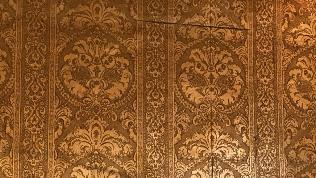The Retreat - old wallpaper found during the bar refurbishments