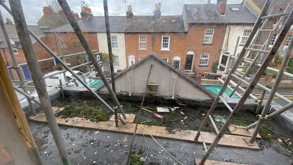 The Retreat - refurbishments - view over St John's Street