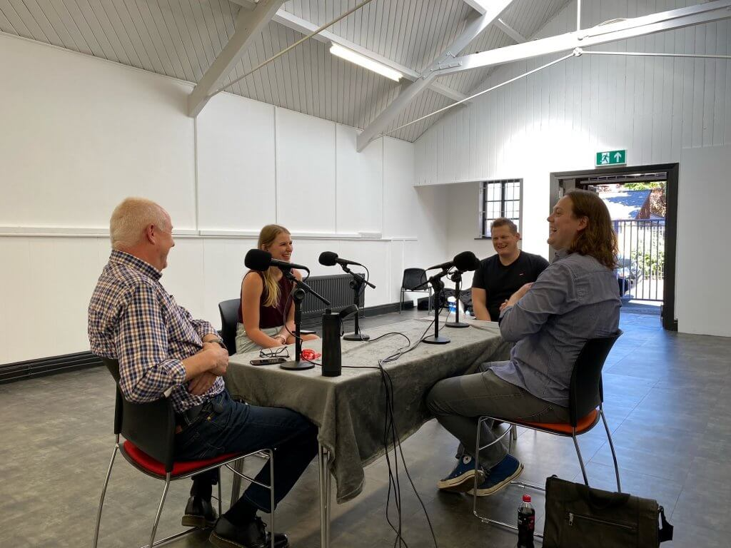 What's On Reading podcast guests at the new Reading Rep Theatre