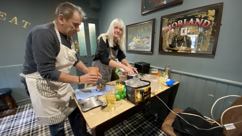 David Gray and Di Whitaker at The Retreat Bloody Mary Contest 2021