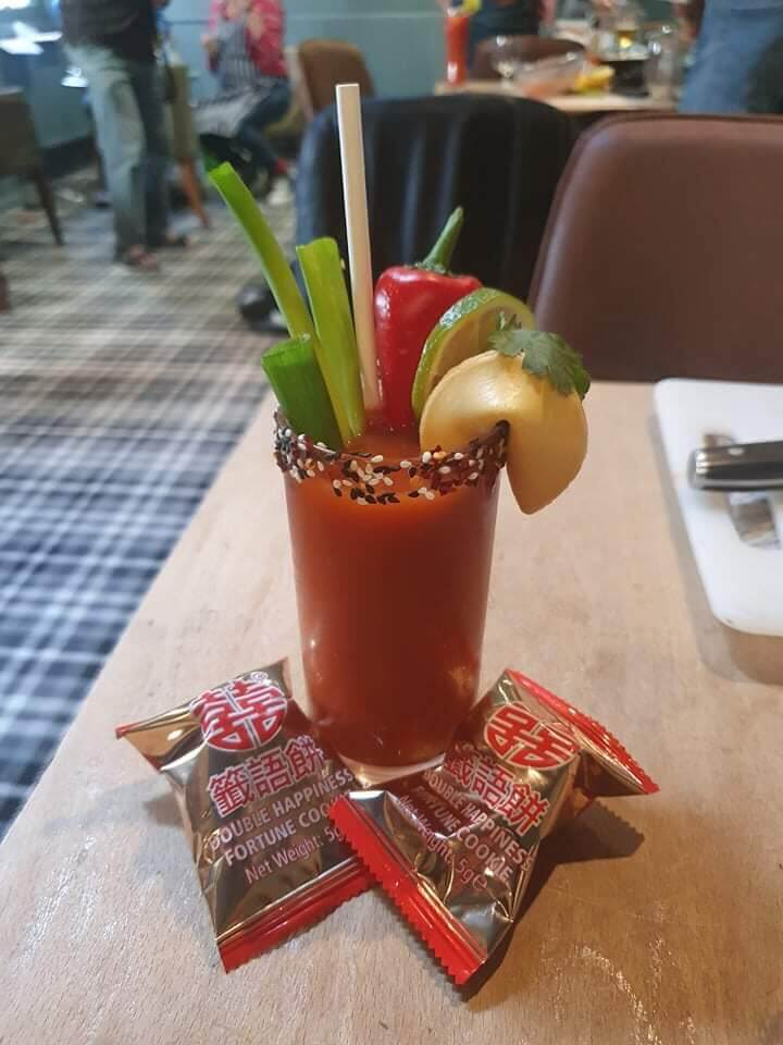 Pan Asian inspired Bloody Mary by Nyomi Miah and Dan-Hunter